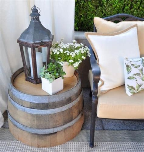 Wine Barrel Patio Table Deck Decorating Ideas That Won T Cost A Fortune By Deckmax
