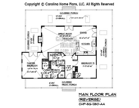 reverse floor plan small country cottage house plan sg 1280 aa sq ft