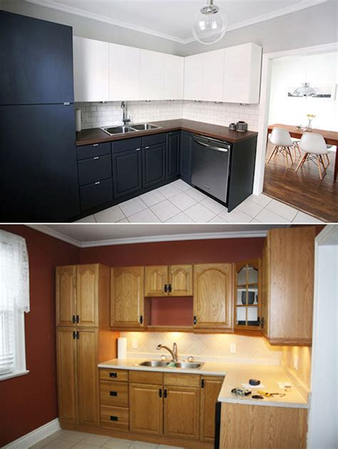 Cabinets Reno by Clever Kitchen Renovation Using New And Original Cabinets