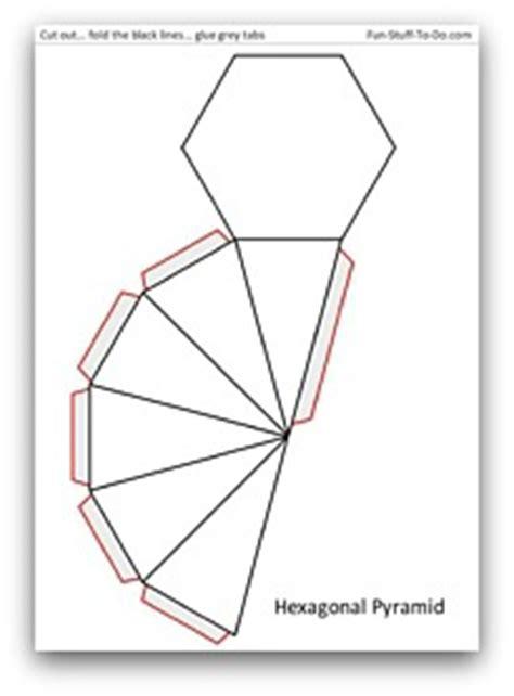 pics for > heptagonal pyramid net
