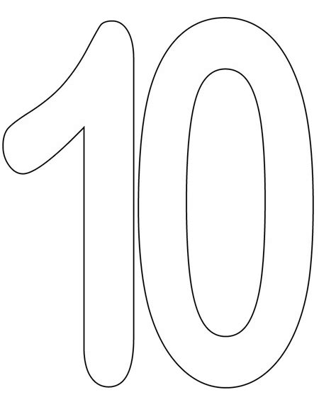 coloring pages of the number 10 numbers coloring part 3