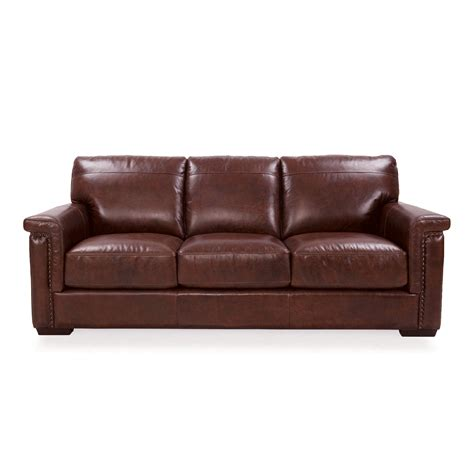 Futura Leather Sofas Futura Leather Sofa Futura Leather Futura Leather Traditional Leather Sofa With Nailhead Trim