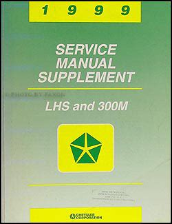best car repair manuals 1999 chrysler 300 free book repair manuals 1999 chrysler lhs 300m repair shop manual original supplement