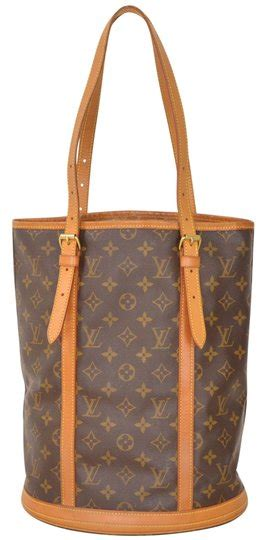 louis vuitton monogram bucket gm large size  brown