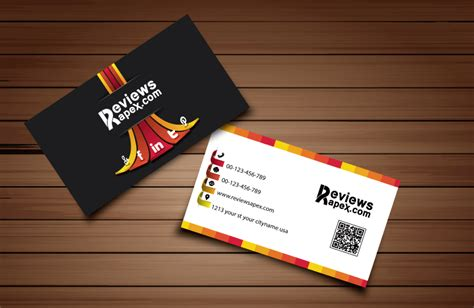 business card 3d template clean professional business card design free