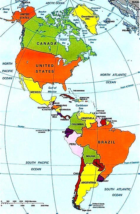 Continente Americano   Mapas   Pinterest