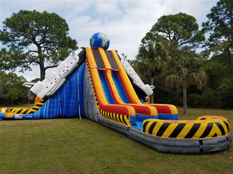 water bounce house rentals space shuttle water slide south florida bounce
