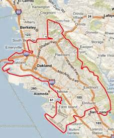 oakland california map