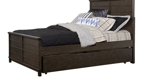 Boy Trundle Beds Sets Bay Charcoal Gray 4 Pc Panel Bed With Trundle