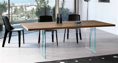 Modern Dining Table Los Angeles Llt Wood By Fiam Italia Modern Dining Tables Linea Inc Modern Furniture Los Angeles