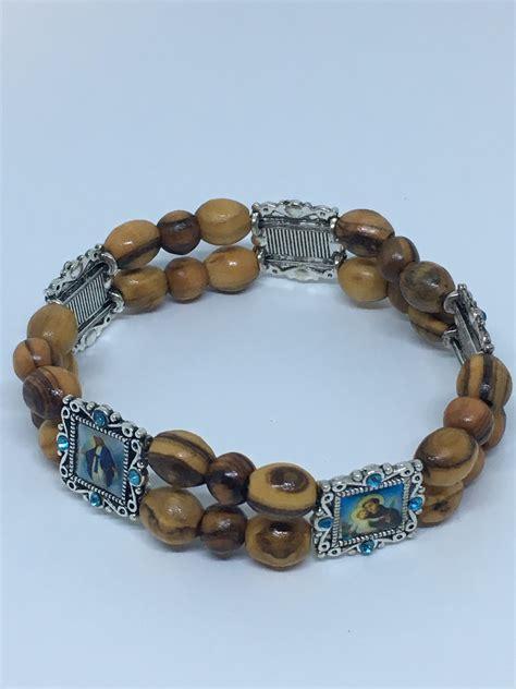 wood bracelet olive wood bracelet