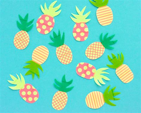 Pineapple Paper Craft - 25 pineapple crafts free printables diy goodness