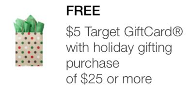 Target Mobile Gift Card - target mobile coupon 5 gift card with 25 holiday gifting purchase all things target