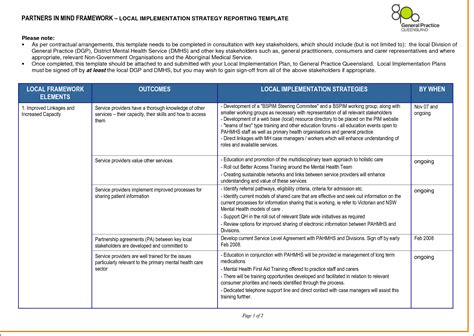 implementation approach template images template design