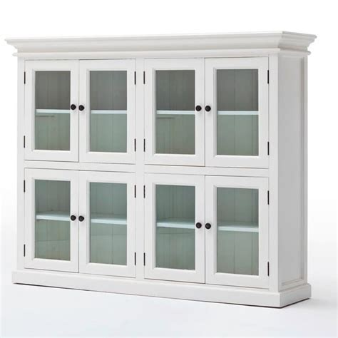 Kitchen Cabinets Halifax Halifax White Low Kitchen Storage Cabinet 8 Door Akd Furniture