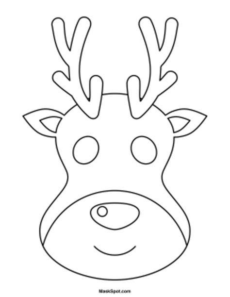 printable reindeer mask