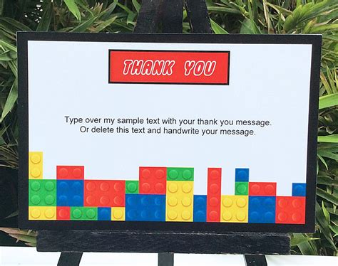 lego thank you card template lego birthday printables lego invitations