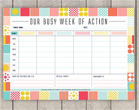 weekly family calendar template weekly familyplanner template zoeken for the