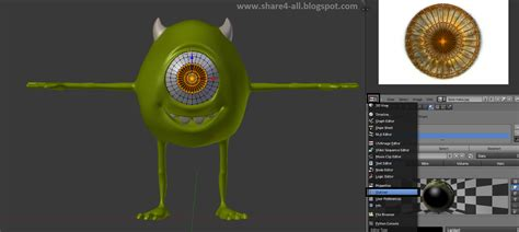 tutorial blender 3d membuat karakter rigging karakter blender 3d mike monster university bagian