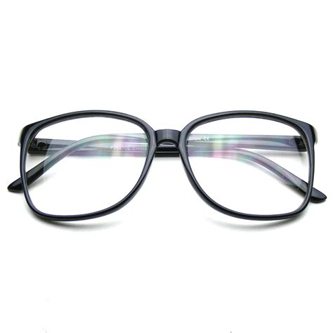Oversized Frame Glasses by Large Oversized Wayfarer Glasses Clear Lens Thin Frame