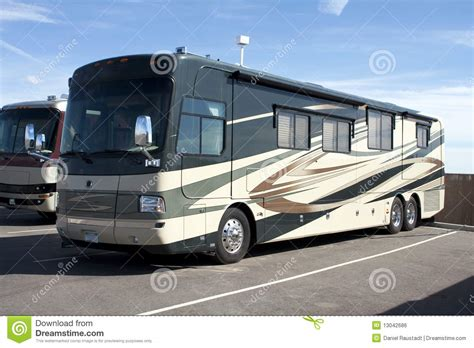 new luxury motor home rv coaches stock photo image 13042686