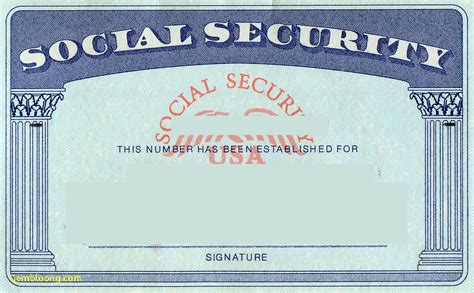 social securty card template new drivers license template best templates