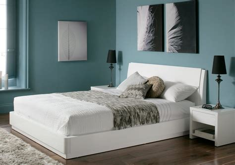 white bed aden high gloss ottoman storage bed white
