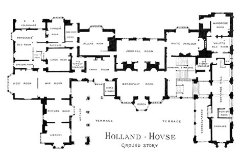 holland hall floor plan file plan of holland house 1875 ground story png