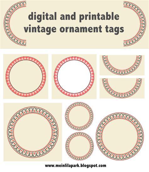 Etiketten Drucken Mac Numbers by Free Printable Vintage Ornament Circle Tags Audruckbare