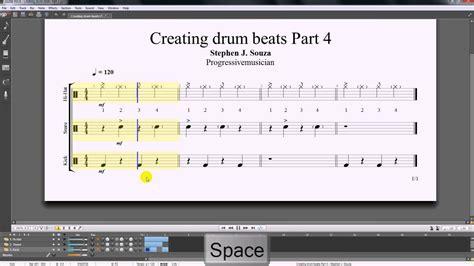tutorial drum beats guitar pro 6 tutorial creating drum beats part 4 youtube