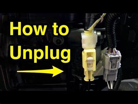 unplug yellow seat airbag sensor wire harness