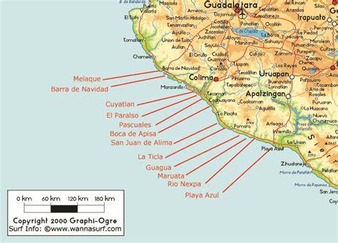 michoacan map michoacan surfer en michoacan mexico wannasurf atlas mondial de spots de surf
