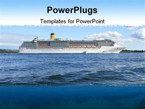 themes for powerpoint ship powerpoint template cruise ship on sea on sunny day of