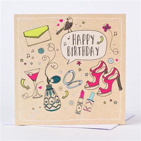 Birthday Cards Uk Birthday Card Her Favourite Things Only 99p