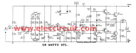 integrated lifier schematic 60w rms otl integrated audio lifier circuit