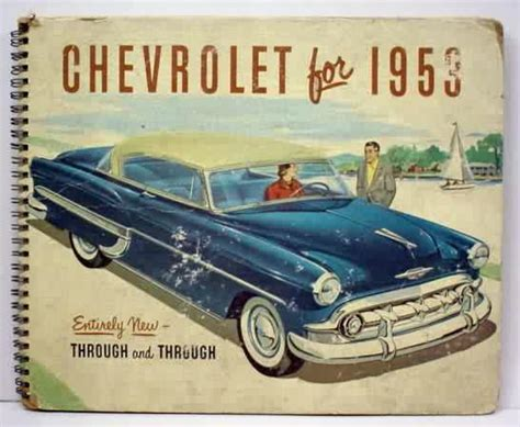 how can i learn about cars 1953 chevrolet corvette instrument cluster automobilia 1953 chevrolet sales book