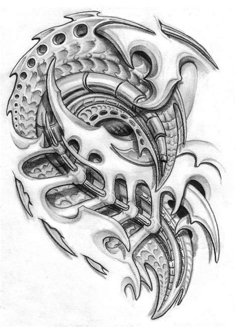 biomechanical tattoo line drawing pinterest the world s catalogue of ideas