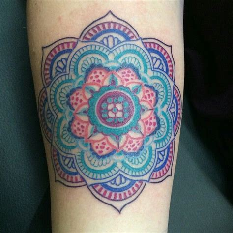 color mandala tattoo best 25 colorful mandala ideas on