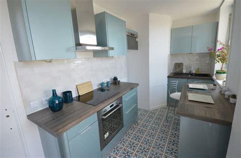 renover meuble salle de bain 3711 cuisine bleu acier vintage r 233 tro cuisine par