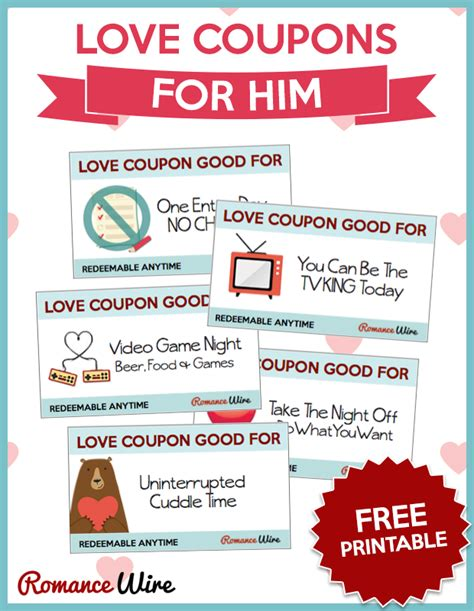 printable intimate love coupons love coupons for him