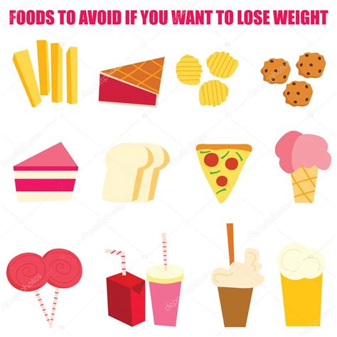 5 Things You Want To Avoid 2 by Foods To Avoid If You Want To Lose Weight Infographics