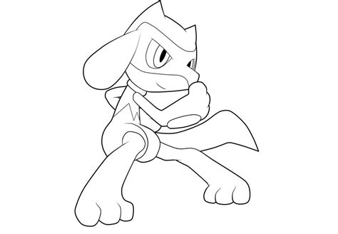 pokemon coloring pages riolu riolu lineart by moxie2d on deviantart