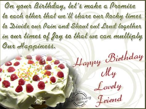 Happy Birthday Wishes For Lovely Friend Happy Birthday My Lovely Friend Wishbirthday Com