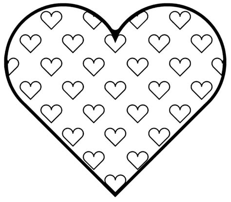 by heart coloring pages