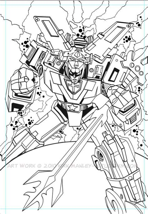 Voltron Coloring Pages Free