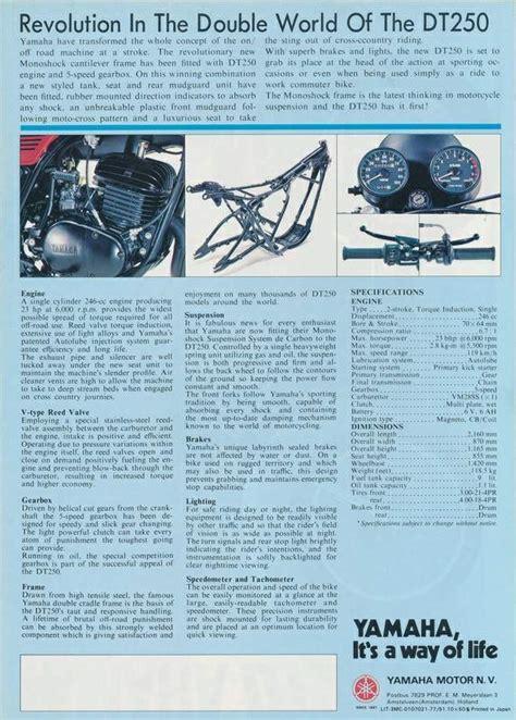 1975 yamaha dt250 wiring diagram wiring diagram ccmanual