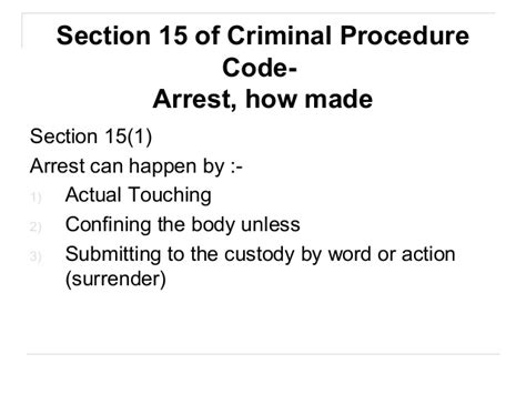 section 144 criminal procedure code cpc arrest rights relating to the arrest