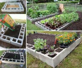 Make a raised bed garden out of cinder blocks diy cozy home