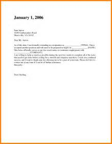 Formal Resignation Letter Email by 7 2 Week Notice Email Letter Format For