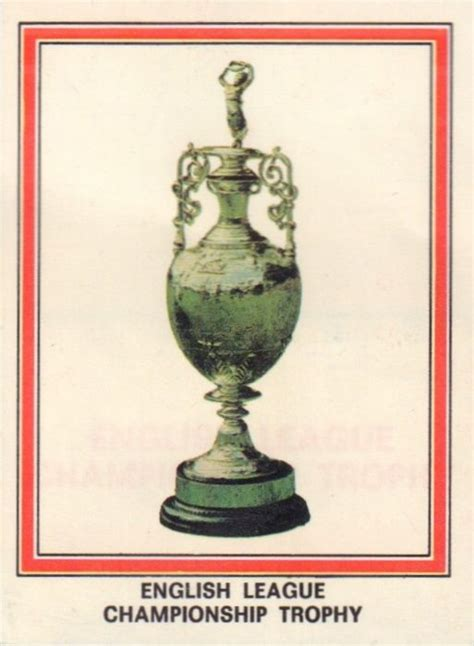 english football league and 1862233551 003 english league chionship trophy first completed for in 1888 89 awarded annually to